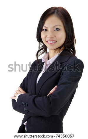 Asian Educational/Business woman on white background