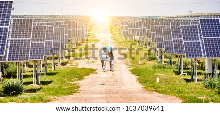Asian engineer checking in the photovoltaic area