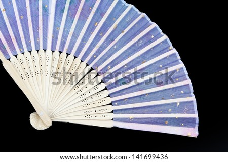 Asian Fan isolated on black