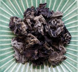 Asian food Dried tree ear mushroom, Macerate tree ear mushroom