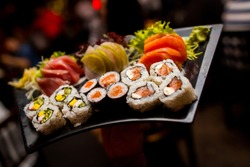 Asian food, Sushi and Sashimi