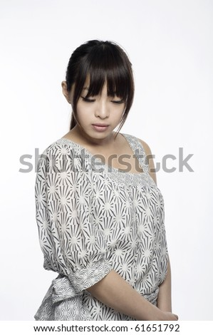 Asian Girl doing fashion pose