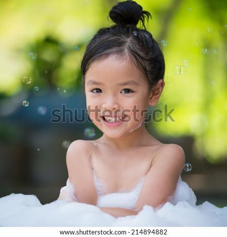 Asian little teen bathroom
