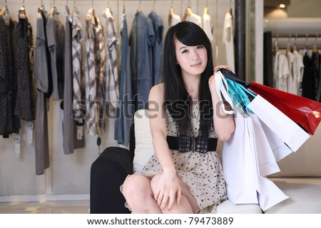 asian girl shopping