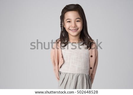 Stock Photo Asian girls studio portrait