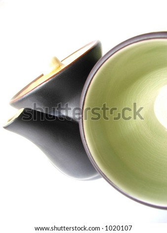 Asian influence teapot and cup