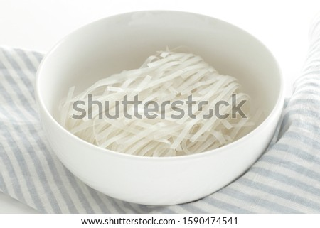 Asian instant food, dried rice noodles