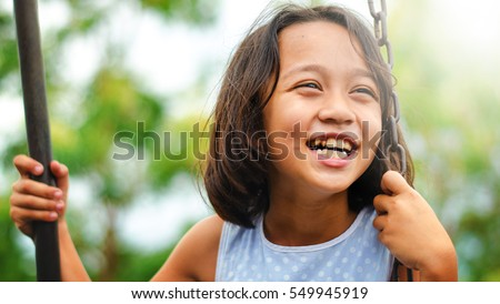 Asian kids happiness and smile #549945919
