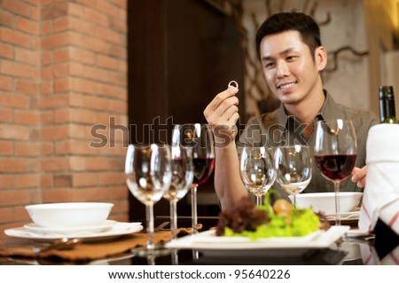 Asian Lifestyle Romantic Dinner