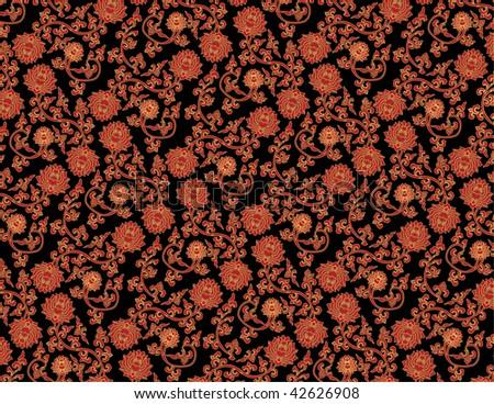 Vintage Flower Pattern Background Vector Art Vector