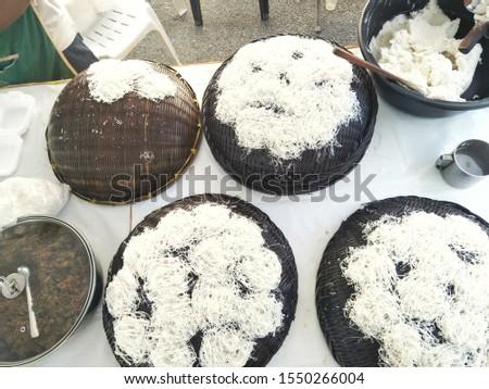Asian Malaysian Indian food Putu Mayam.