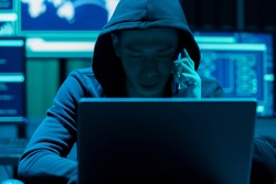 Asian male hacker is extorting on the phone