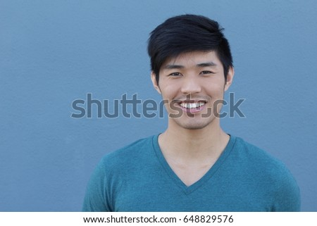 Asian Man Portrait Smiling Isolated with Copy Space - Shutterstock ID 648829576