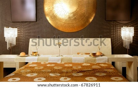 ... photo : Asian modern bedroom breakfast table luxury