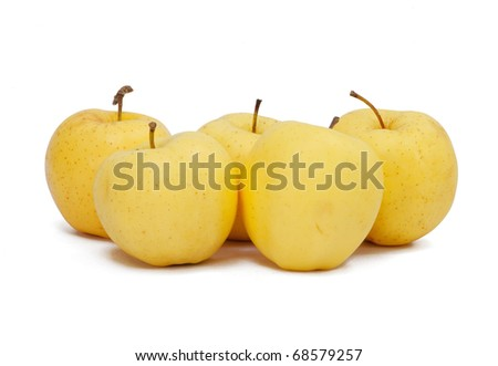 Asian pears in group isolate