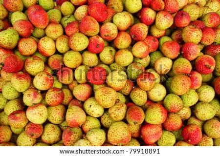 asian ripe fruit in market
