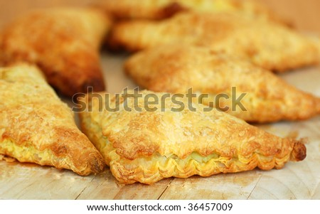 Asian's style chicken curry puff.