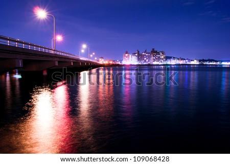 asian sea coast at night 03
