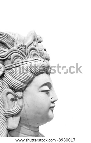 Asian Statue Isolated on White Background.