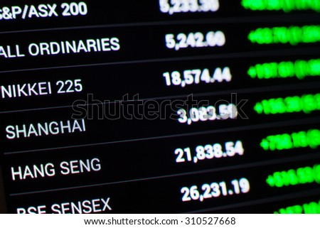 asian stock market chart,Stock market data on LED display concept