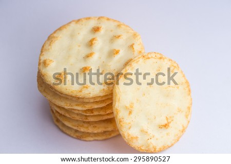 Asian Style Snack Rice Crispy Cracker Stock Photo 295890527 ...