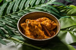 Asian style very spicy chicken curry