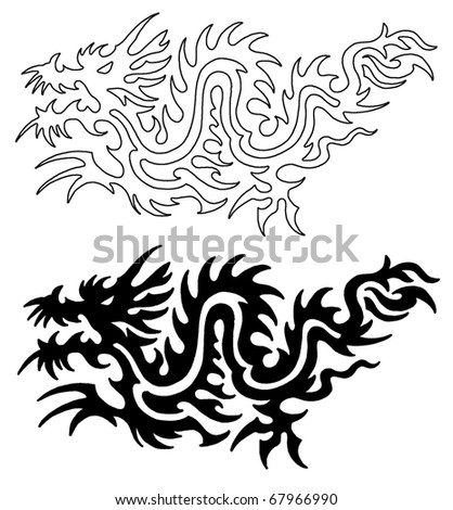 Asian Tattoo Dragon