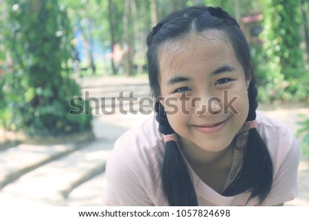 Opinion asian teen girl face close up