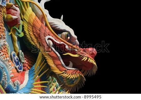 Asian temple dragon - stock photo