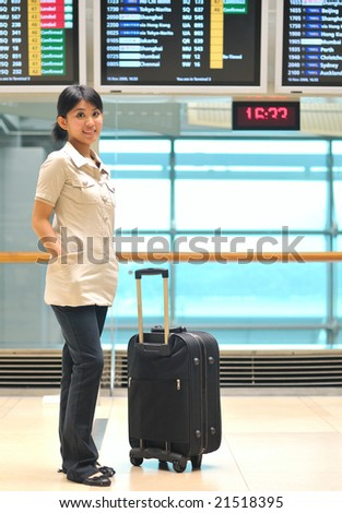 asian woman at airport