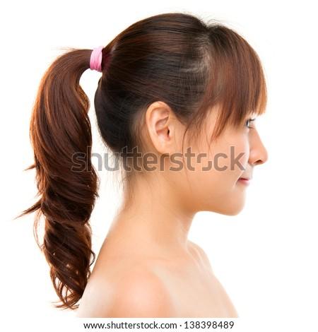 Asian Woman Profile Smiling Young Beautiful Asian Woman