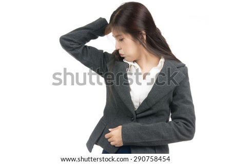 Asian woman smelling sniffing wet armpit something stinks for How to get bad smell out of armpits in shirts