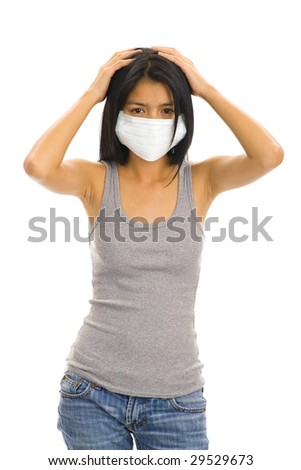 asian woman wearing a protective face mask