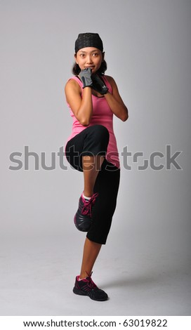 Asian woman Working out