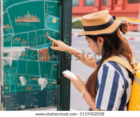 Asian women tourists, see map, recommend tourist attractions