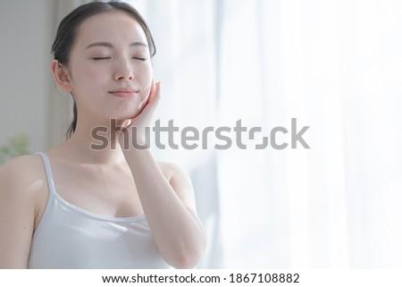 Asian women who care for their skin Stockfoto ©
