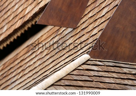 asian wooden roof