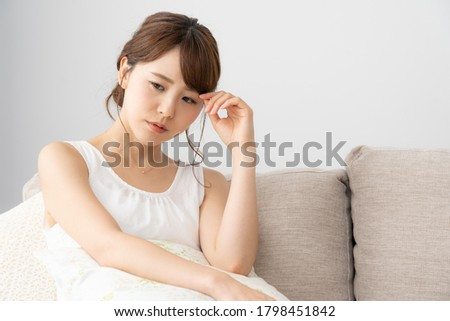 Asian young woman in the room