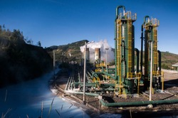 Aside from being an attractive tourist spot, Dieng, Central Java, Indonesia also has many geothermal power plants that are fully utilized by local residents.