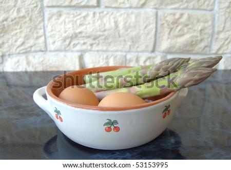 asparagus and eggs #53153995