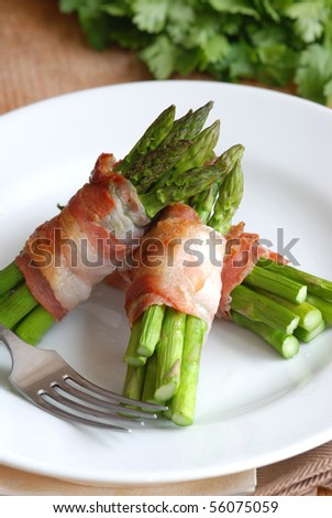 Asparagus and pancetta wraps