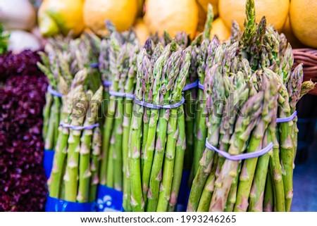 Asparagus At The Valencian Mercado Central. Foto stock ©