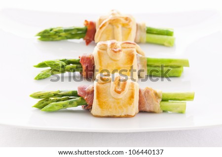 asparagus in pastry baked