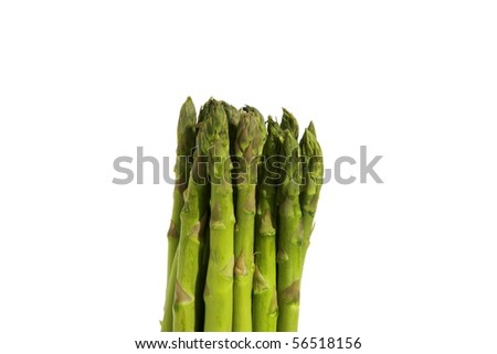 asparagus spears isolated on white