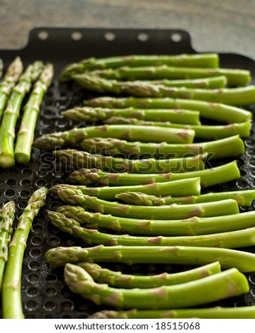 Asparagus Spears on a Grill