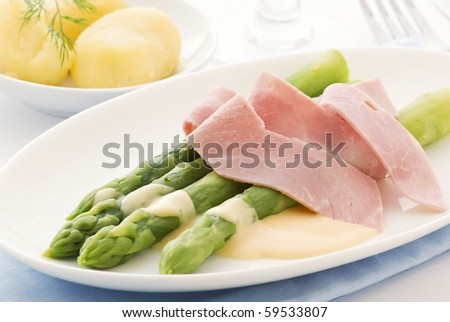 Asparagus with Ham and Potatoes