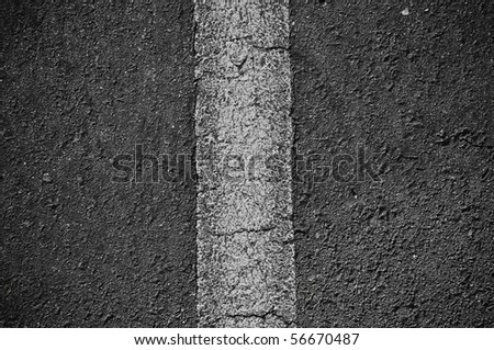 Asphalt Black Divided Horizontal Line