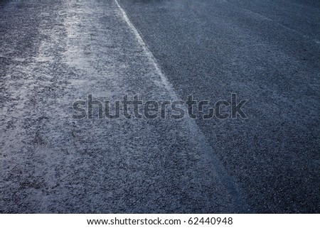 asphalt detail of road