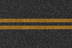 Asphalt highway road texture with markings.