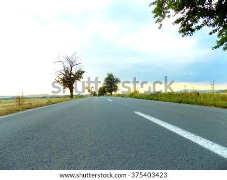 Asphalt road #375403423